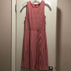 Fun striped orange dress
